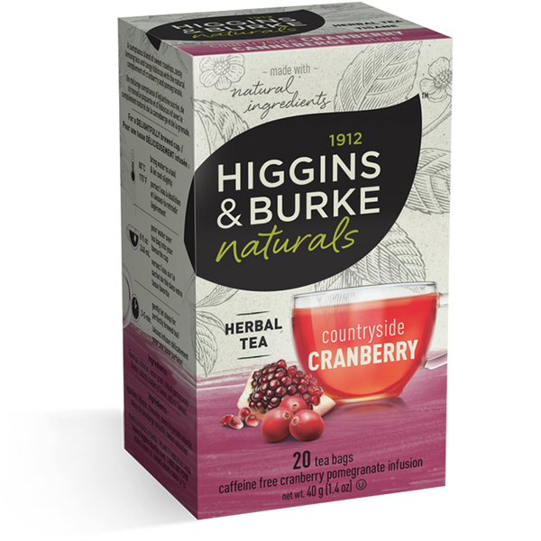 Higgins & Burke Countryside Cranberry Herbal Tea (120 Tea Bags)