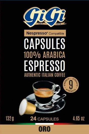 GiGi Espresso Cartridges for Nespresso (288 Units)