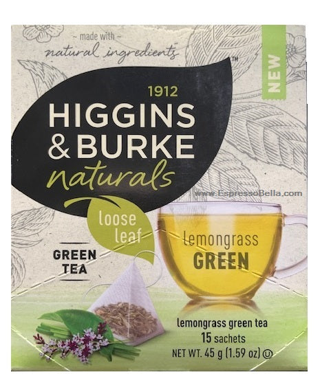 Higgins & Burke Lemongrass Loose Leaf Green Tea (90 Tea Bags)