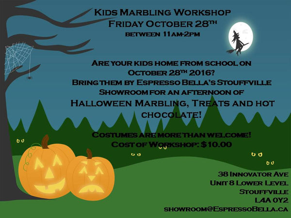 Kids Halloween Marbling Workshop Admission