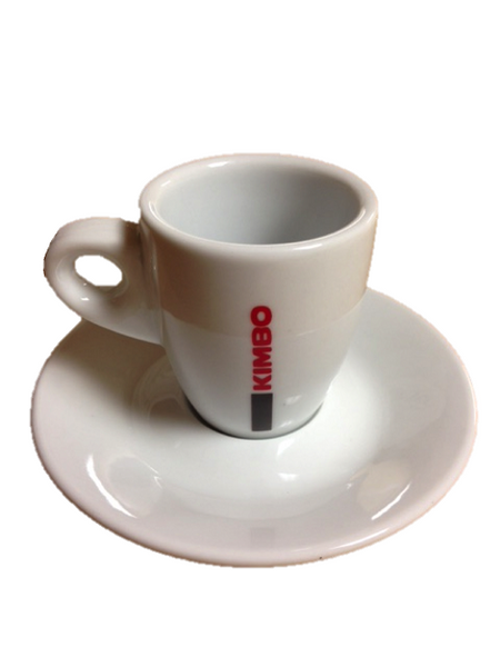 Kimbo Porcelain Espresso Cups with Piattini (Set of 6)