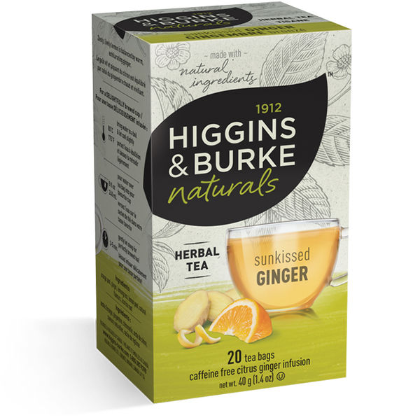 Higgins & Burke Sunkissed Ginger Herbal Tea (120 Tea Bags)