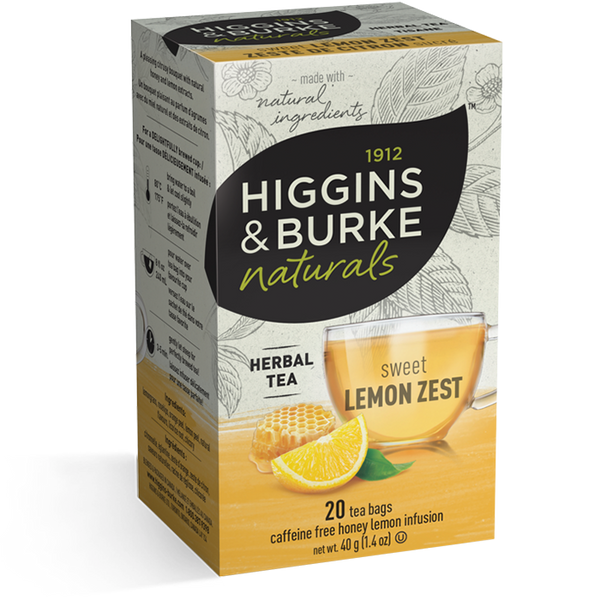 Higgins & Burke Sweet Lemon Zest Herbal Tea (120 Tea Bags)