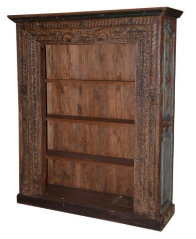 Dark Colored Wooden Bookcase with Four Shelves