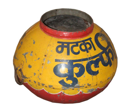 Yellow Iron Pot
