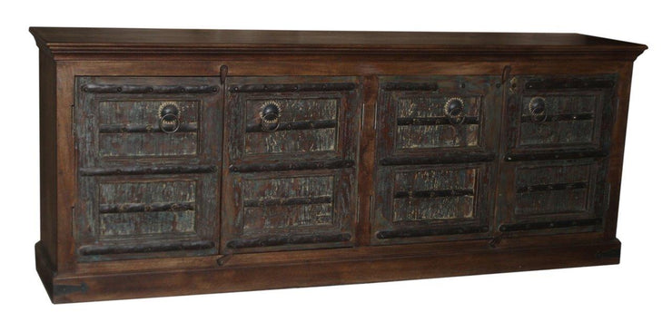 Dark Brown and Black Wooden Cabinet