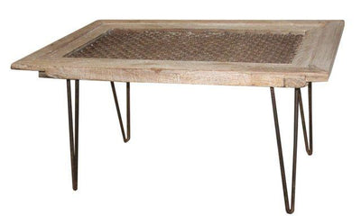Wooden Jali Dining Table