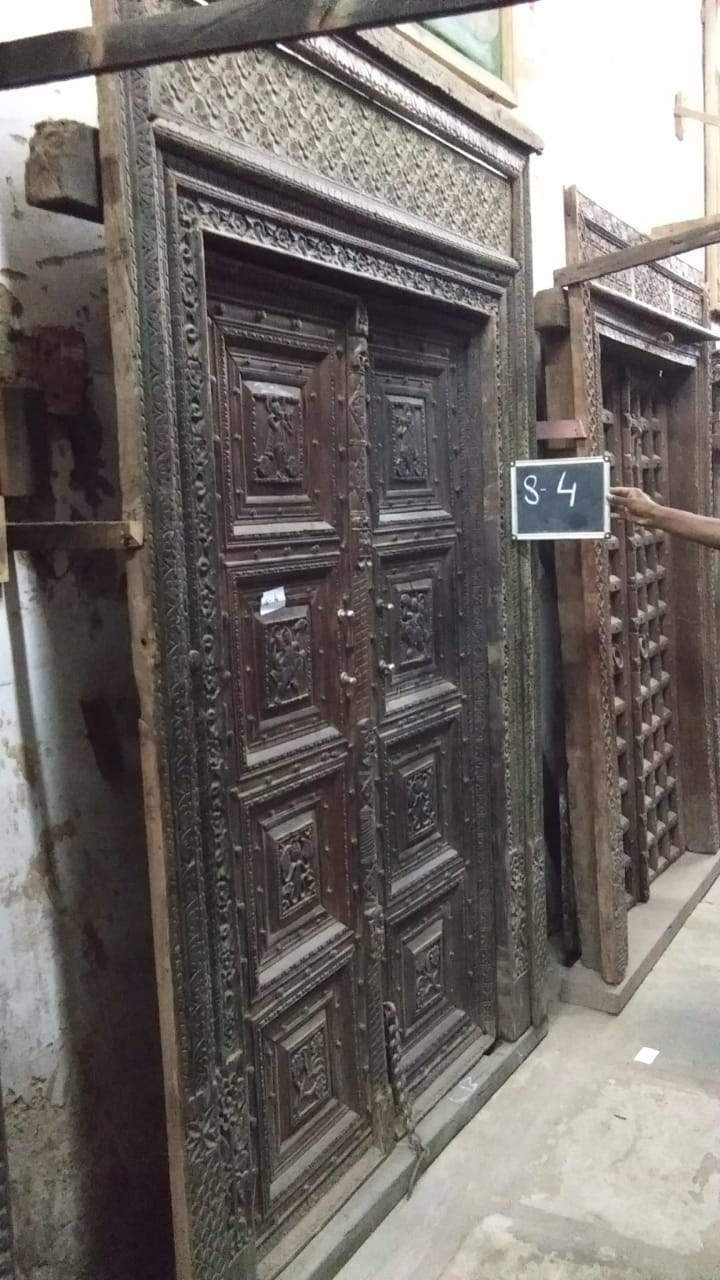 Tall Wooden Door with Frame