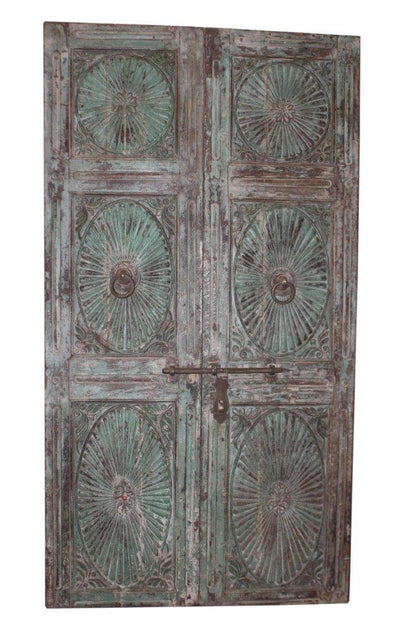 Blue Wood Door Panel