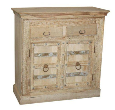 Wooden Cabinet with Two Doors and Two Drawers