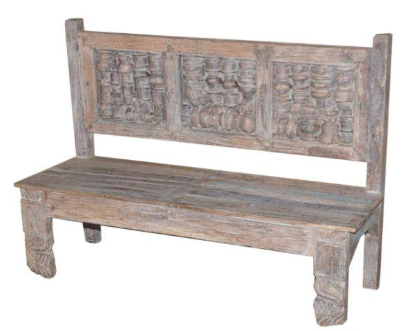 Short Wooden Bench
