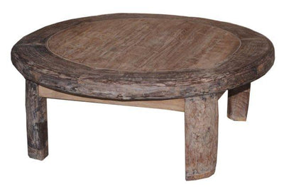 Wooden Wheel Coffee Table