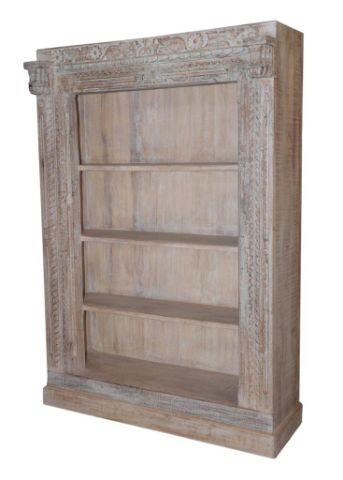 Wooden Bookcase with Four Shelves