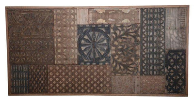 Wooden and Iron Panel with Carving
