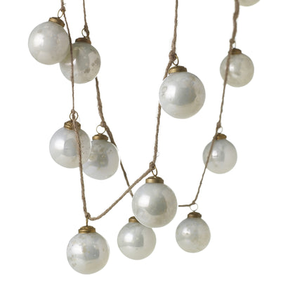 Milky Ornament Garland- 72""