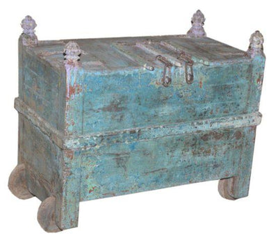 Blue Wooden Trunk