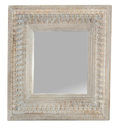 Light Wooden Carved Mirror Frame