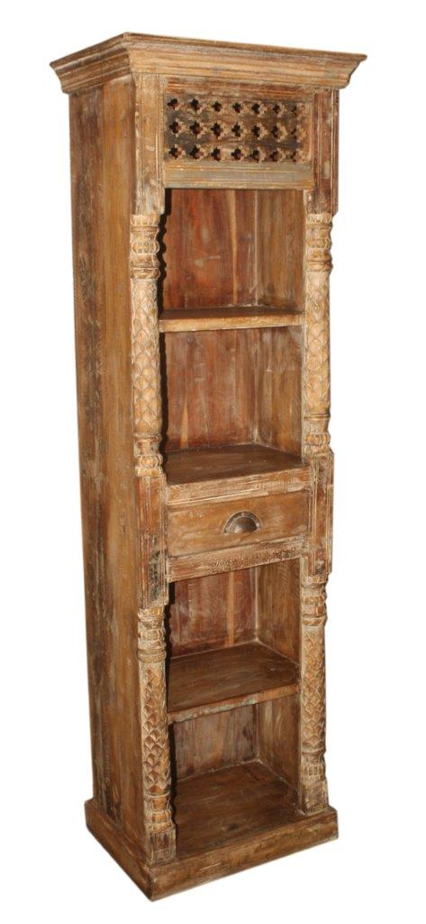 Wooden Bookcase with 1 Drawer