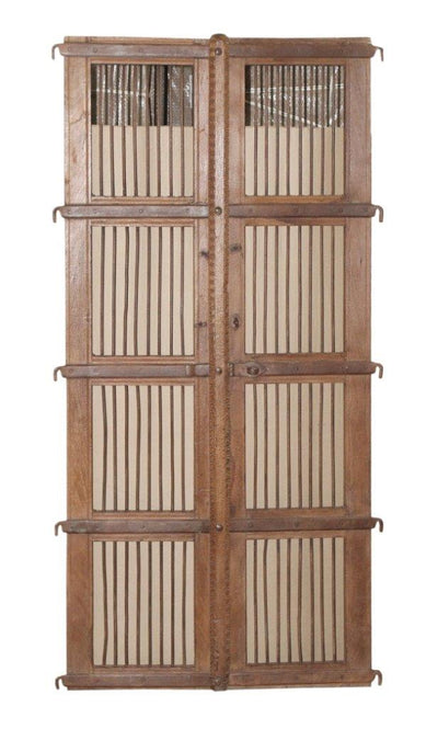 Wooden Iron Fitted Door Panel