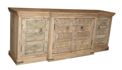 Light Wooden Sideboard with 4 Doors