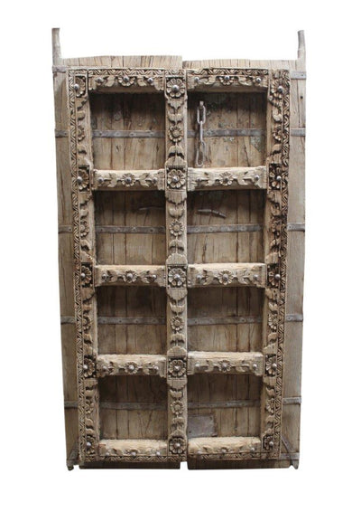 Dark Wooden Iron Fitted Door Panel