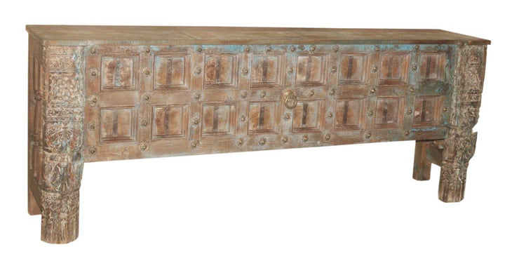 Light Washed Wooden Console Table