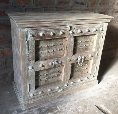 3' Small Carved Wood Cabinet