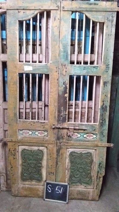 Tall Wooden Jali Door