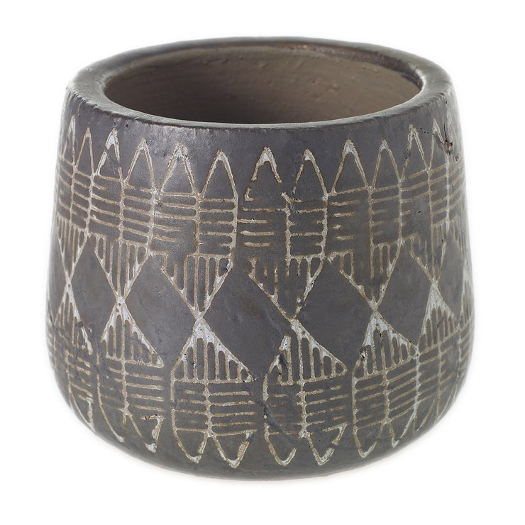 "Naima Pot Brown- 6"" x 5"""