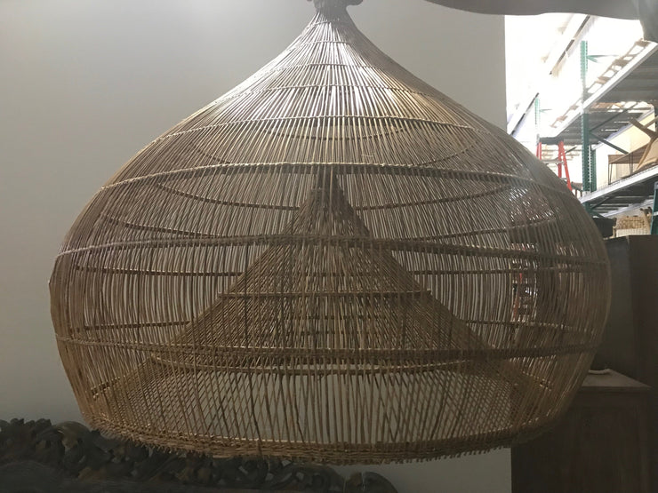 Large Natural Fiber Woven Lamp Shade