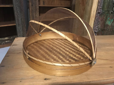 Natural Bamboo Fiber Woven Tray - Small Size from Three Piece Set