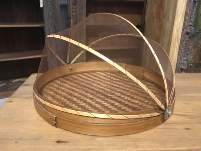 Natural Bamboo Fiber Woven Tray - Medium Size from Three Piece Set