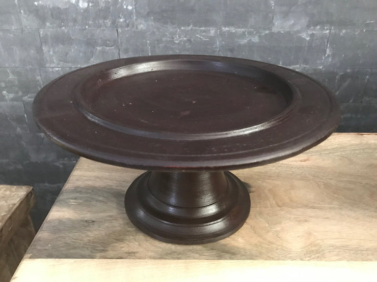 Medium Brown Pedestal Serving Tray