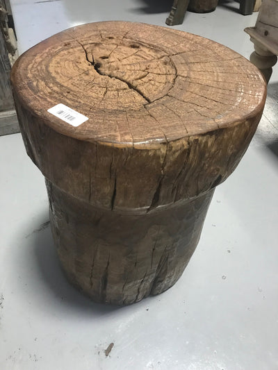 Large Circular Wooden Stool