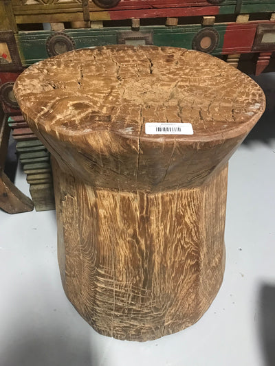 Small Circular Wooden Stool