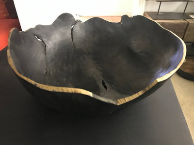 Black Teak Wooden Bowl