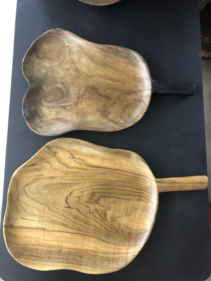 Wooden Plate with Handle