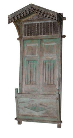 Wooden Jharokha Overhanging Balcony with Pointed Top