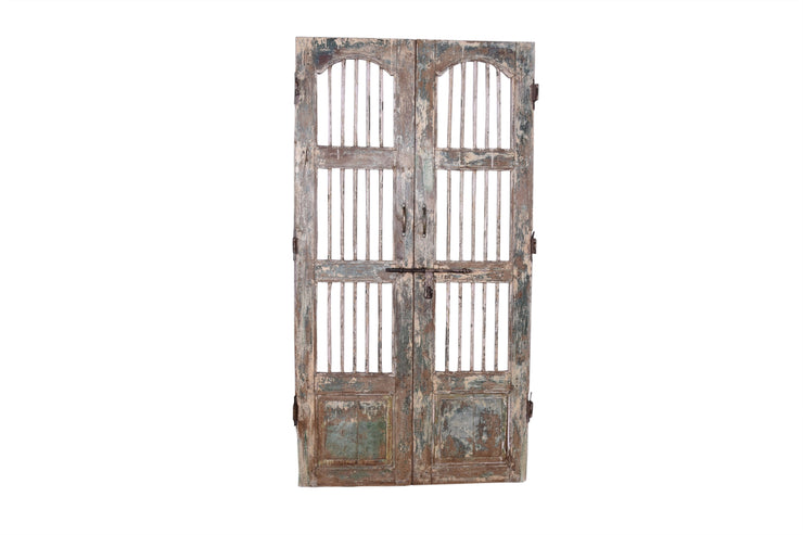 Wooden Iron Rod Door