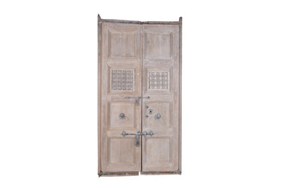 Bleached Wooden Door