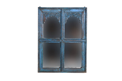 Blue Wooden Mirror Frame