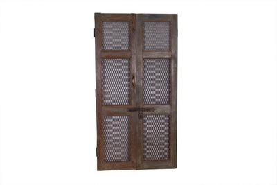 Dark Wooden Iron Jali Door