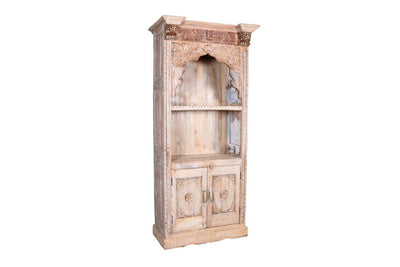 Light Wooden Carving Bookshelf Almirah
