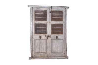 Wooden Iron Jali Door with Frame
