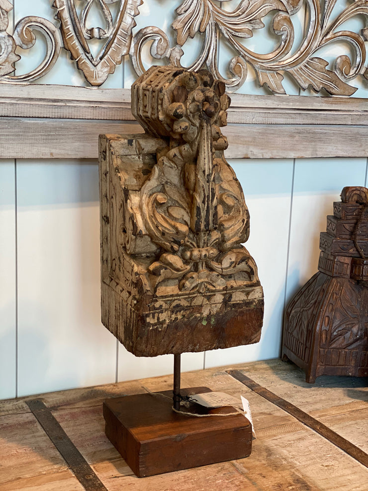 Light Carved Wood Stand