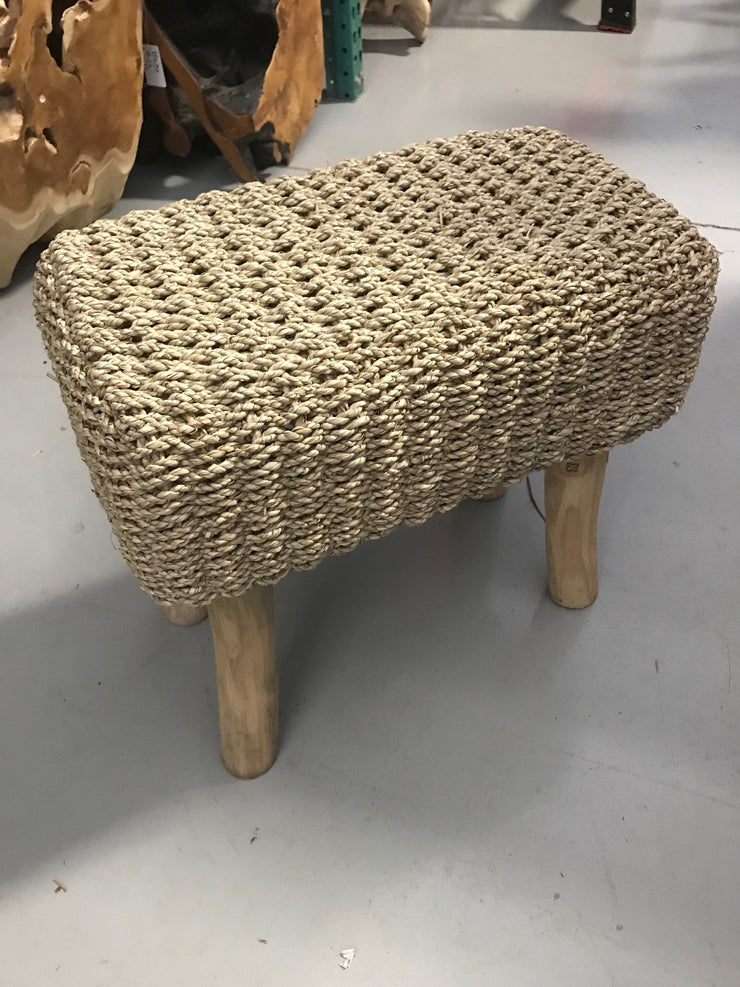 Natural Seagrass Fiber Woven Stool