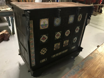 Wooden Trunk with Flowers