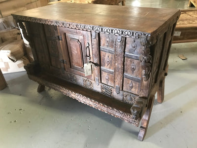 Wooden Trunk with Small Door