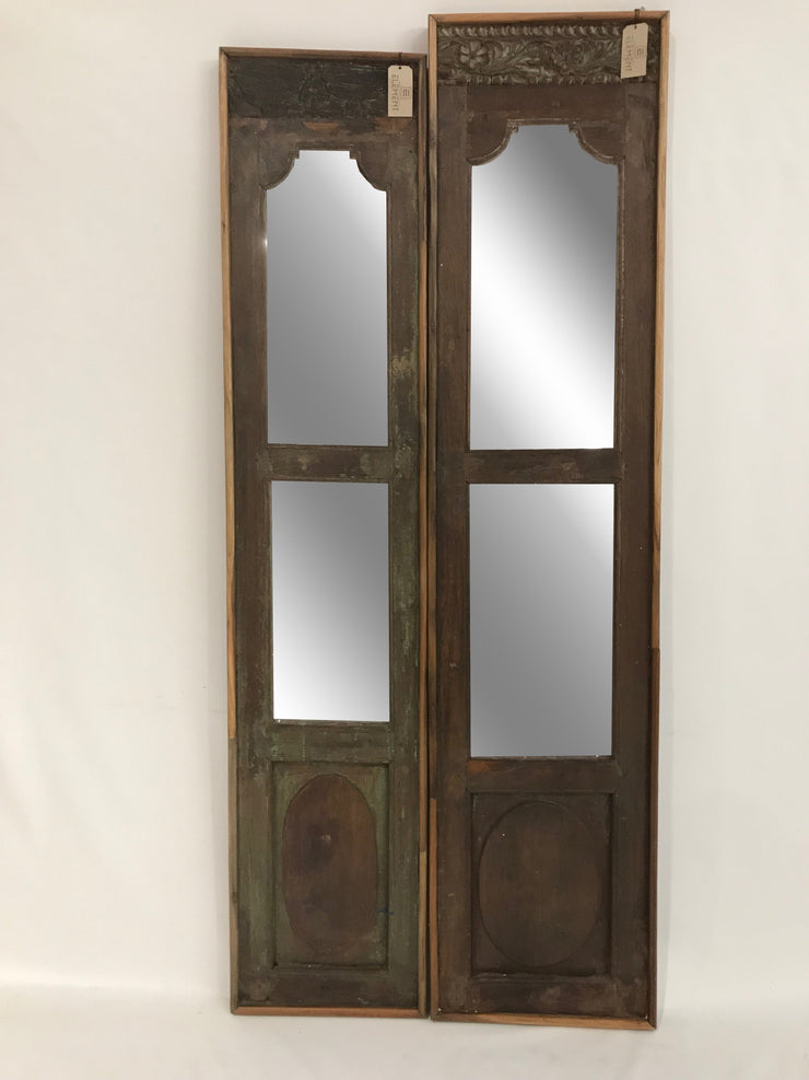 Wooden Door with Two Mirrors