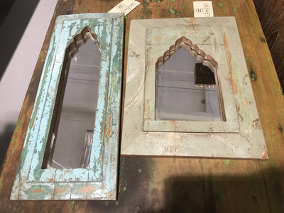 Small Mirror with Wooden Frame